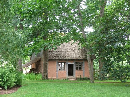 Maison acadienne au Jardin Historique à Annapolis Royal